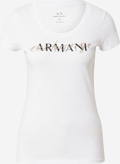 ARMANI EXCHANGE T-shirt en or / noir / blanc, Vue avec produit