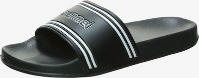 Hummel Claquettes / Tongs 'Pool Slide' en noir / blanc, Vue avec produit