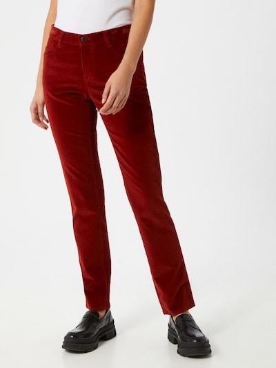 BRAX Broek 'Mary' in de kleur Kersrood, Modelweergave