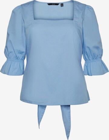 Vero Moda Curve Bluse 'Oppa' in Blau