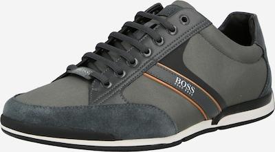 BOSS Casual Sneaker 'Saturn' in anthrazit / dunkelgrau / orange / weiß, Produktansicht