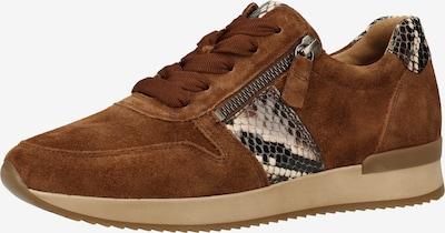 GABOR Sneaker in rostbraun: Frontalansicht