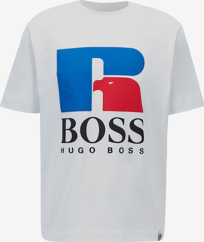 BOSS Casual Shirt 'Russell Athletic' in de kleur Royal blue/koningsblauw / Rood / Wit, Productweergave