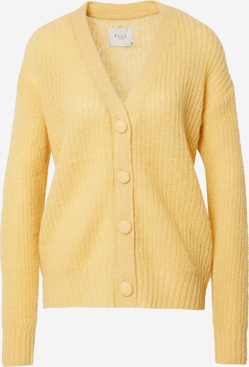 PULZ Jeans Strickjacke 'IRIS' in gelb, Produktansicht