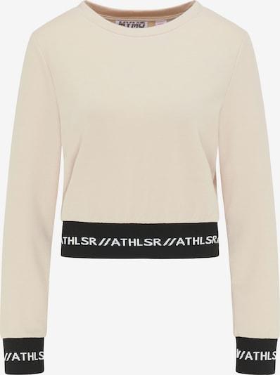 myMo ATHLSR Sweat de sport en beige / noir / blanc, Vue avec produit