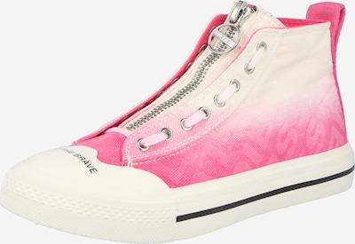 DIESEL Baskets hautes en rose / blanc, Vue avec produit
