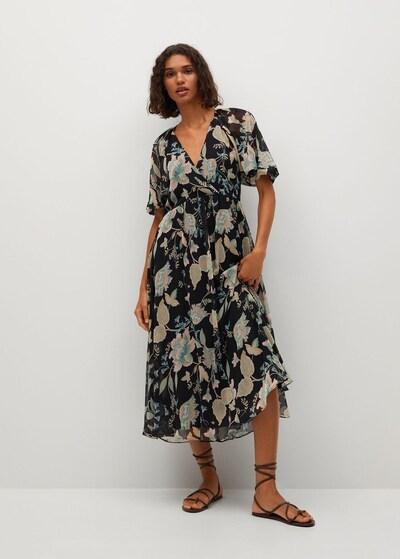 MANGO Kleid in mischfarben / schwarz, Modelansicht