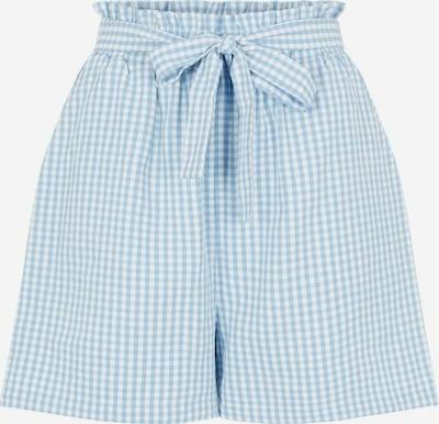 világoskék / fehér PIECES Élére vasalt nadrágok 'Nina', Termék nézet