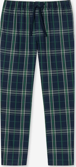 SCHIESSER Pyžamové nohavice - námornícka modrá / zelená / biela, Produkt