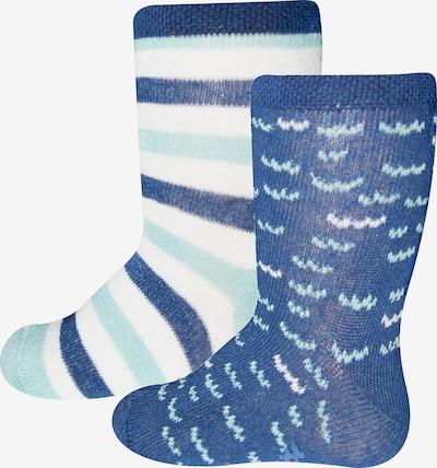 SANETTA Socken in blau / mint / weiß, Produktansicht