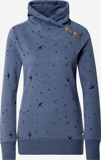 WLD Sweatshirt 'Love Beat' in taubenblau / schwarz, Produktansicht