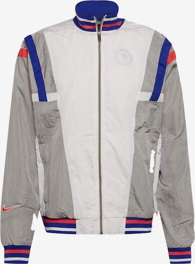 NIKE Sportjacke in blau / silbergrau / rot / weiß, Produktansicht