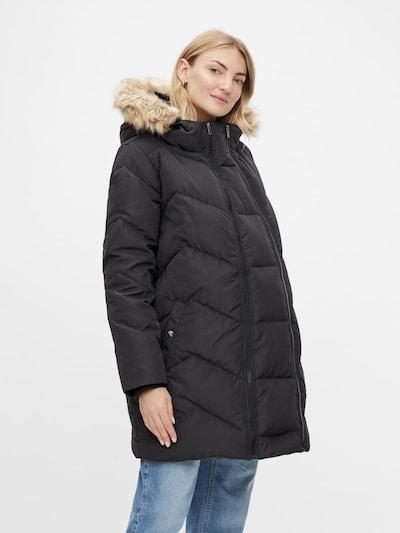 MAMALICIOUS Winter Coat 'Sicilia' in Black, View model