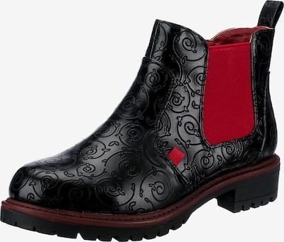 ambellis Chelsea Boots in rot / schwarz, Produktansicht