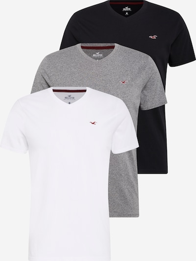HOLLISTER Koszulka w kolorze nakrapiany szary / czarny / białym, Podgląd produktu