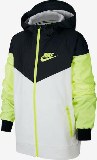 Nike Sportswear Jacke in hellgrün / schwarz / weiß, Produktansicht