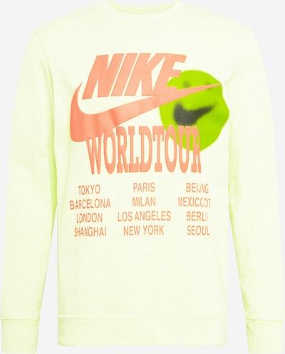 Nike Sportswear Sweatshirt in de kleur Lichtgroen / Sinaasappel, Productweergave