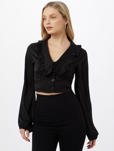 Missguided Blouse in de kleur Zwart, Modelweergave