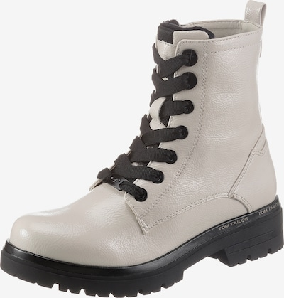 TOM TAILOR Lace-Up Ankle Boots in Beige, Item view