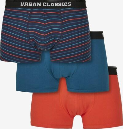 Urban Classics Boxershorts in blau / nachtblau / orangerot, Produktansicht
