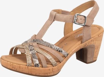 GABOR Sandalette in hellbeige / taupe / anthrazit, Produktansicht