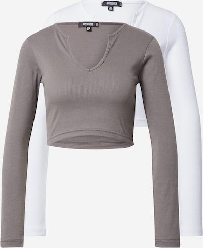 Missguided Tričko - režná / bílá, Produkt