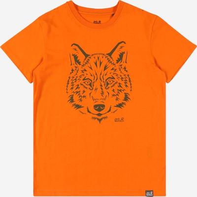 JACK WOLFSKIN Camiseta en gris oscuro / naranja claro, Vista del producto