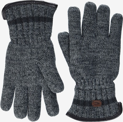 CAMEL ACTIVE Vingerhandschoenen in de kleur Bruin / Grijs / Zwart, Productweergave