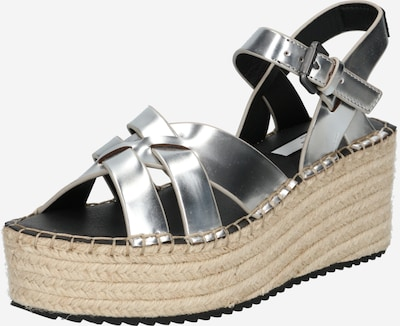 Pepe Jeans Sandale 'WITNEY RIVER 2' in silber: Frontalansicht