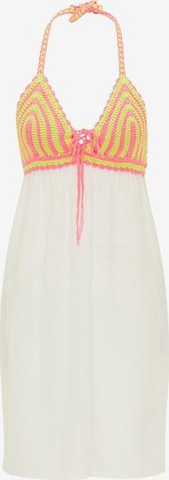 MYMO Kleid in neongelb / neonpink / wollweiß, Produktansicht