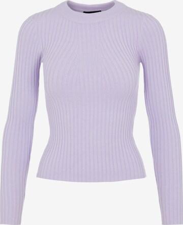 PIECES Sweter 'Crista' w kolorze fioletowy