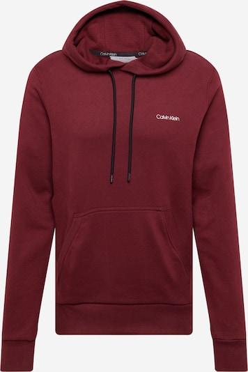 Calvin Klein Sportisks džemperis, krāsa - vīnsarkans / melns / balts, Preces skats