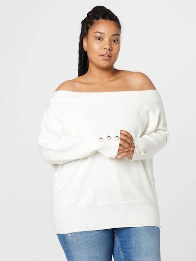 River Island Plus Pullover in creme, Modelansicht