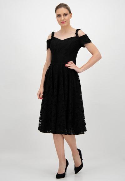 Prestije Midi-Cocktailkleid in schwarz, Modelansicht