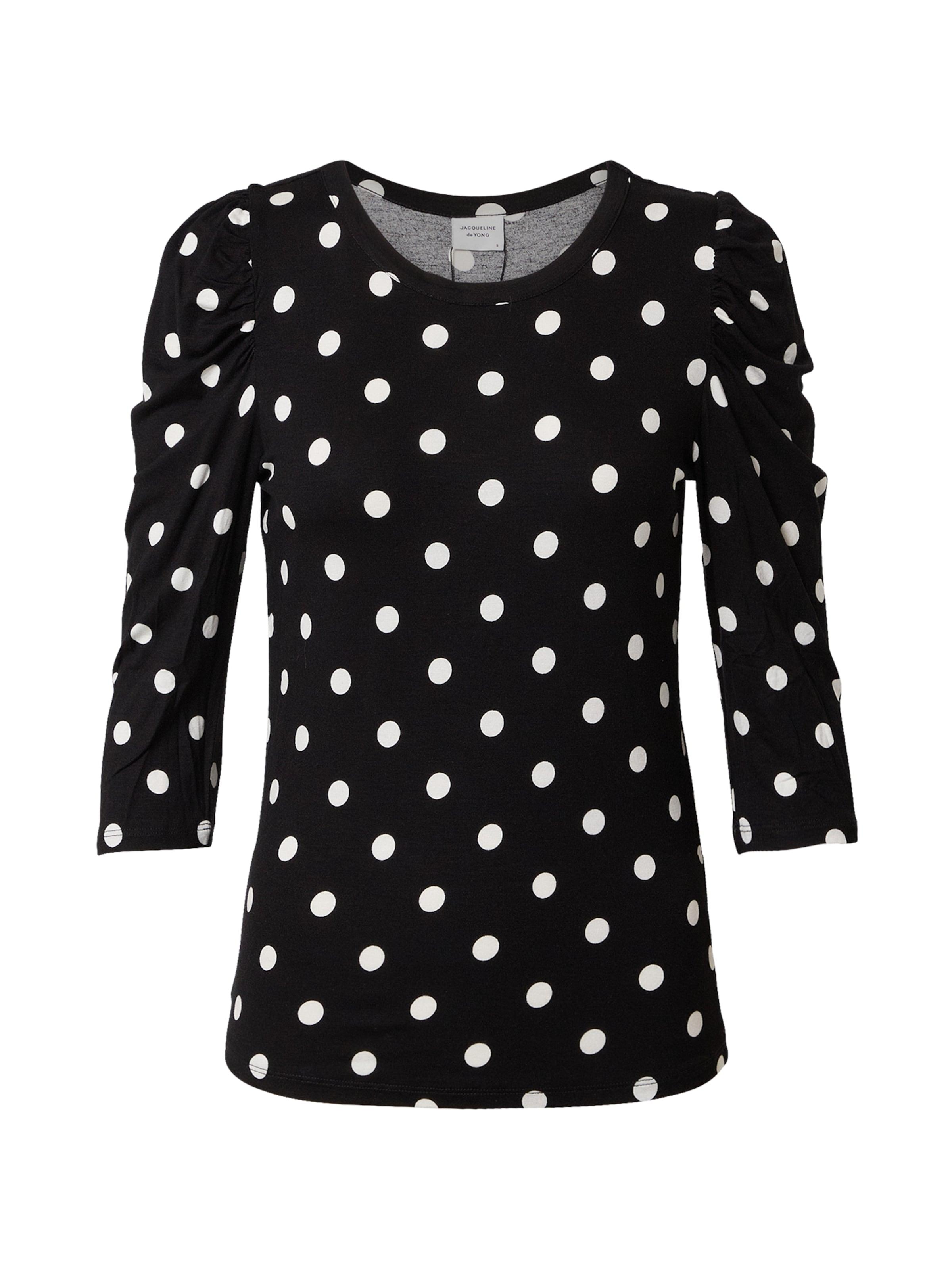 JACQUELINE de YONG Póló 'Hailey' fekete / fehér színben