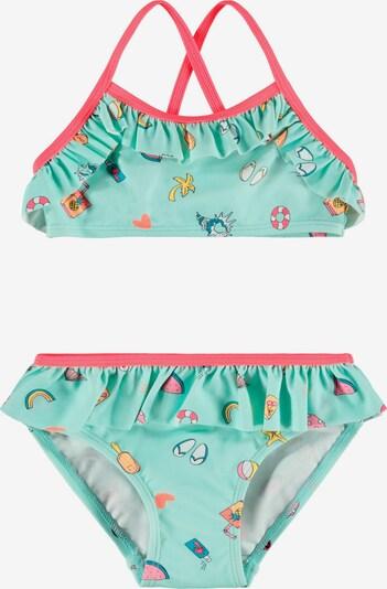 NAME IT Bikini 'Zummer' in de kleur Safraan / Jade groen / Pink / Watermeloen rood / Wit, Productweergave