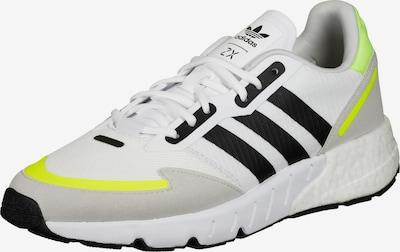 ADIDAS ORIGINALS Ниски маратонки 'ZX 1K Boost' в сиво / неоново зелено / черно / бяло, Преглед на продукта