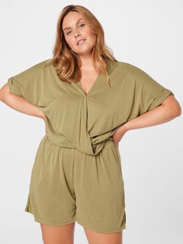 Urban Classics Curvy Jumpsuit in Groen