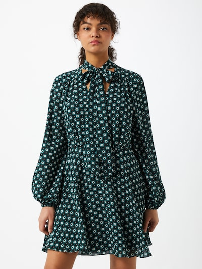 Ted Baker Košilové šaty 'Dolley' - antracitová / petrolejová / bílá, Model/ka