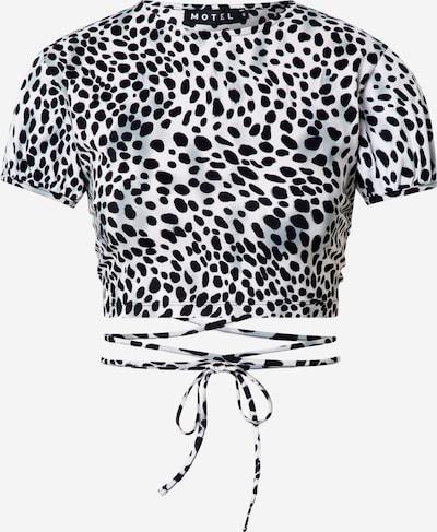 Motel T-shirt 'TASYA' en noir / blanc, Vue avec produit