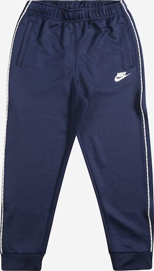 Pantaloni Nike Sportswear di colore navy / bianco, Visualizzazione prodotti