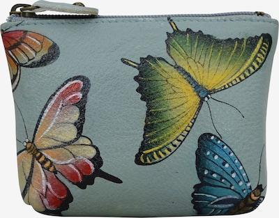 ANUSCHKA Mini Geldbörse 'Heaven' aus handbemaltem Leder in mischfarben, Produktansicht