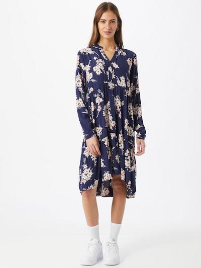 PIECES Kleid in nachtblau / grün / pastellpink / weiß, Modelansicht