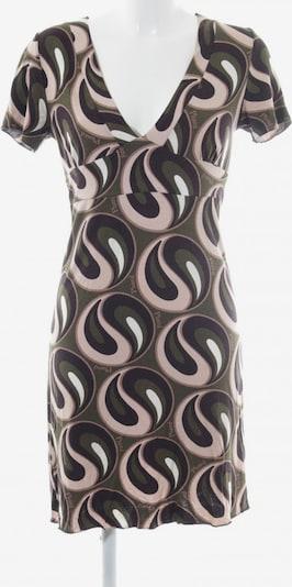 phard Jerseykleid in M in dunkelbraun / oliv / pastellpink: Frontalansicht