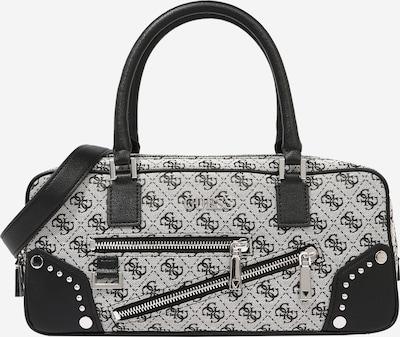 GUESS Handtasche 'FRANKIE' in schwarz / weiß, Produktansicht