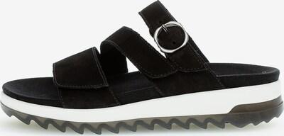 GABOR Pantoletten in schwarz / weiß, Produktansicht