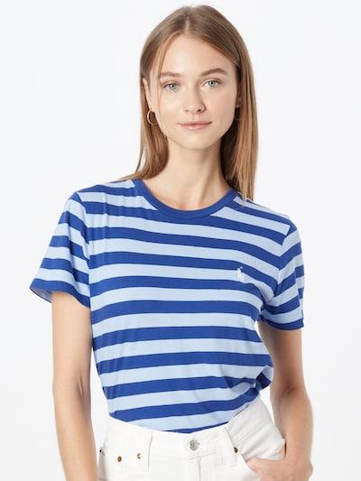 Polo Ralph Lauren Shirt 'STRP RL TEE-SHORT SLEEVE-T-SHIRT' in Blue: Frontal view