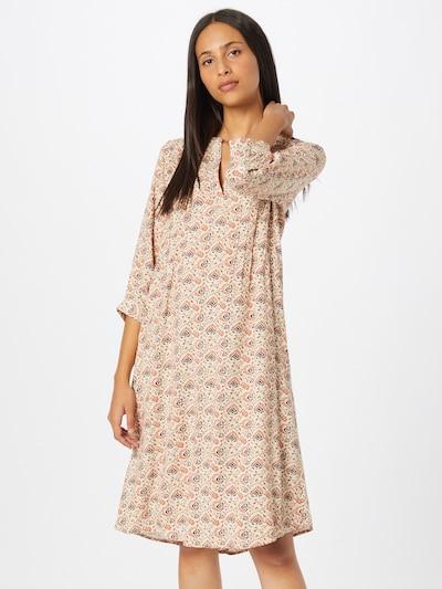 Fransa Kleid 'BALEAF' in braun / cappuccino / orange, Modelansicht