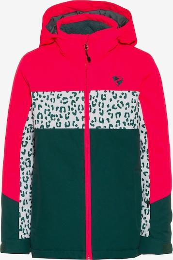 ZIENER Skijacke 'Pelin' in petrol / pink / weiß, Produktansicht