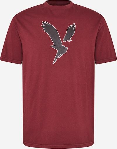 American Eagle Shirt in burgunder / schwarz / weiß, Produktansicht